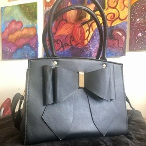 Black Bow Handbag
